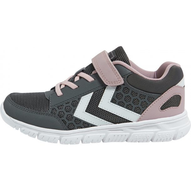 HUMMEL - Sneakers Crosslite i grå med rosa
