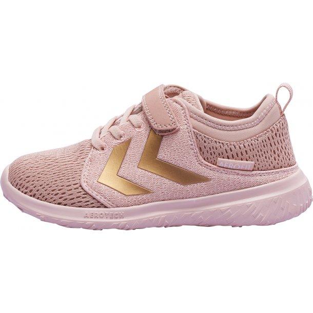 HUMMEL - Sneakers Crosslite  rosa med guld vinkler