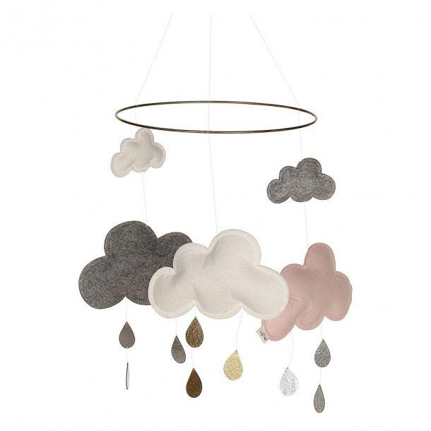 KONGES SLØJD - Uro med skyer  i grå-rosa