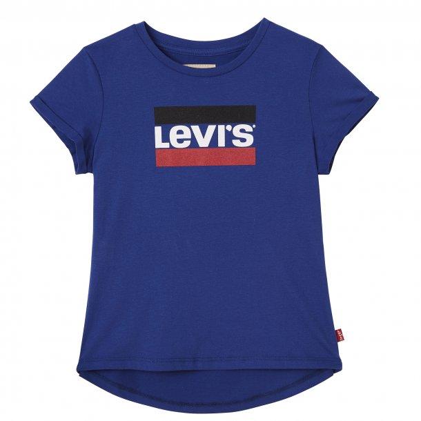 LEVIS - T-Shirt i stærk blå. Pige. Marble