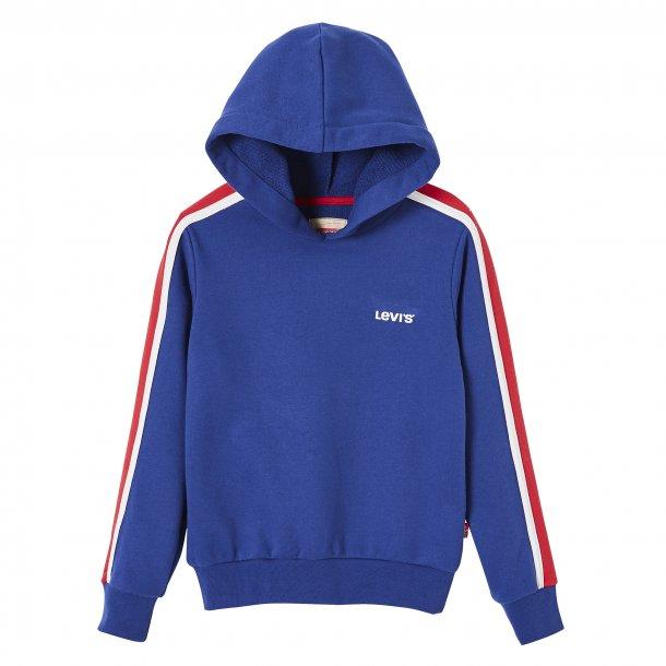 LEVIS - Sweatshirt med hætte i stærk blå. Pige Malte