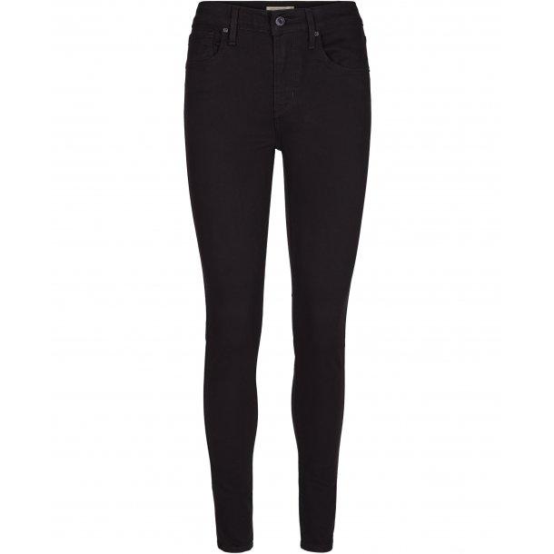 b4ab5aeb LEVIS - Jeans i sort vask Pige. Model 721 High rise skinny - Bukser ...