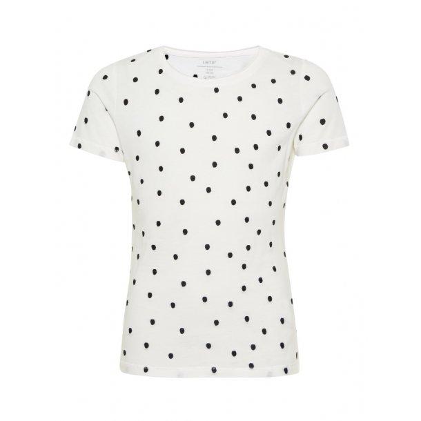 LIMITED - T-Shirt i hvid med sorte prikker