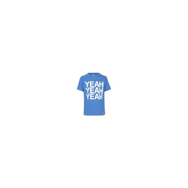 MADS NØRGAARD - T-Shirt i blå med YEAH. Thorlino..