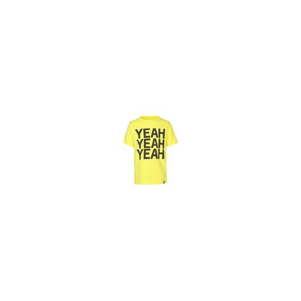 MADS NØRGAARD - T-Shirt i gul med YEAH. Thorlino..