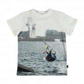 6f123bd460f MOLO - T-shirt med print cable park. Road