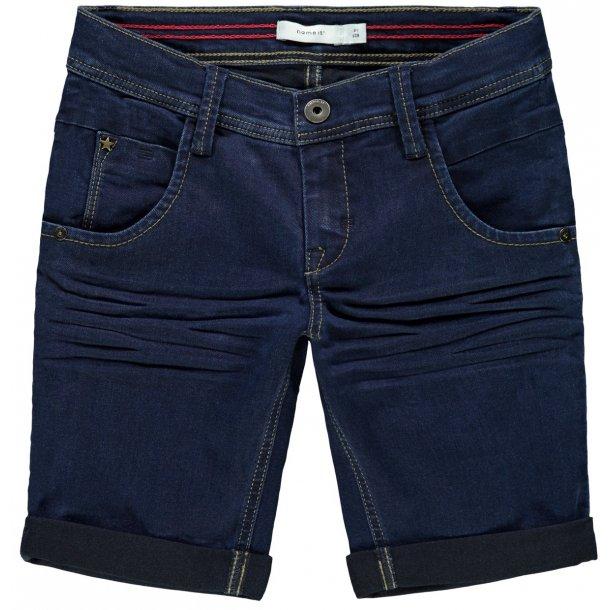 NAME IT - Shorts i mørkeblå denim