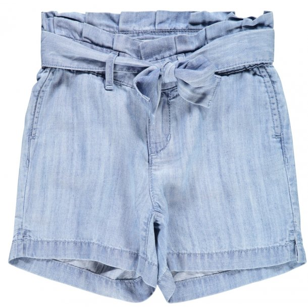 NAME IT - Shorts i blød chambrey..