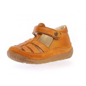 27ffa939dfc NATURINO - Begynder sandal i karrygul skind
