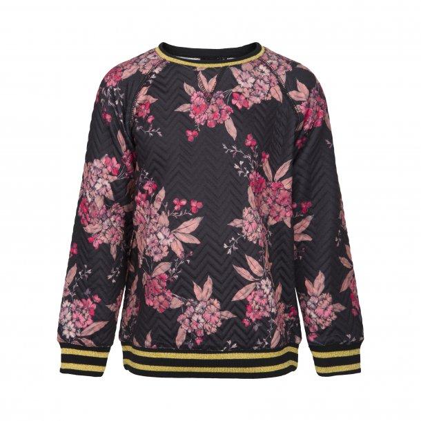 SOFIE SCHNOOR - Sweatshirt sort med blomster