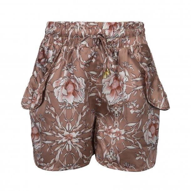 SOFIE SCHNOOR - Shorts i caramel blomst