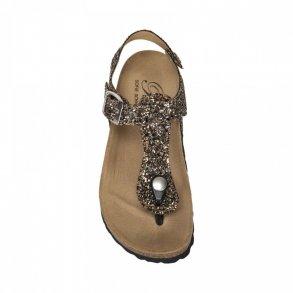 b4040a1c3db SOFIE SCHNOOR - Sandal i black-gold glitter