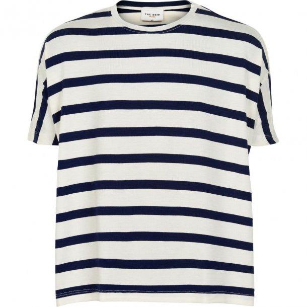 THE NEW - T-Shirt i blåstribet. Kathrine Bat..