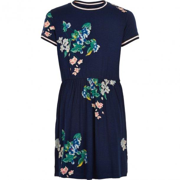 THE NEW - Kjole i blå med grønne blomster. Kaisja