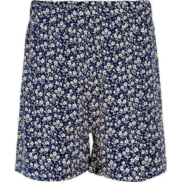 THE NEW - Shorts i mørkeblå blomstret. Karla
