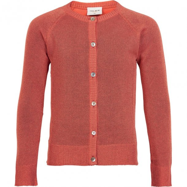 THE NEW - Cardigan i peach glitter. Aya