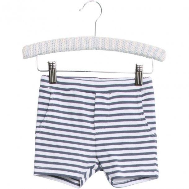 WHEAT - Shorts i blød jersey i lyseblå stribet. Aske..