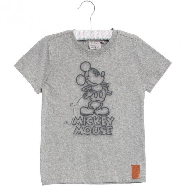 WHEAT - T-Shirt i grå med Mickey..