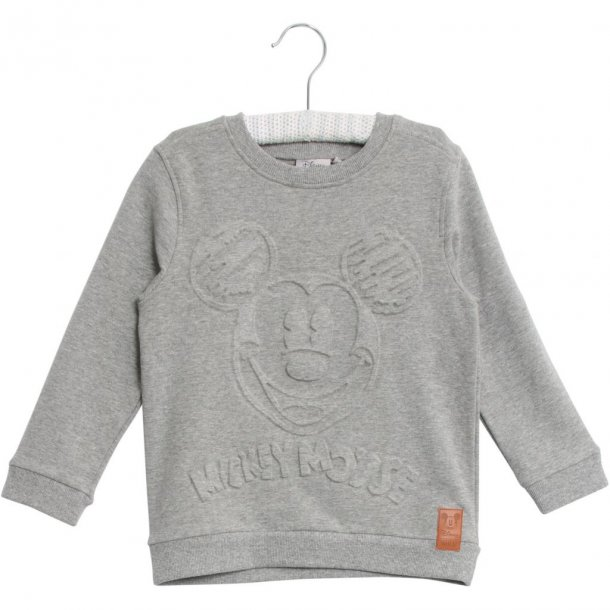 WHEAT - Sweatshirt i grå med Mickey