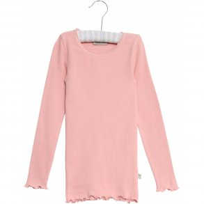 8889cee8750f WHEAT - T-shirt med lange ærmer i rose tan rib