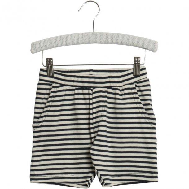 WHEAT - Shorts i blød jersey i Navy stribet. Aske