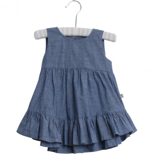8812ff0dbc40 WHEAT - Kjole i blå chambrey. Sari - Kjoler og nederdele - Karl ...
