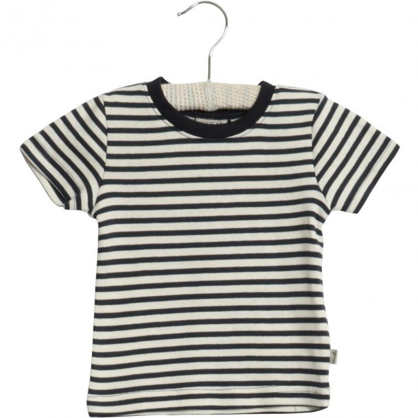 WHEAT - T-shirt i Navy stribet. Wagner
