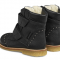 ANGULUS - TEX Støvle med uldfoer i sort med nitter