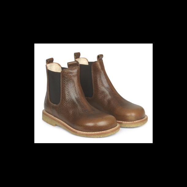 ANGULUS - Chelsea støvle i cognac