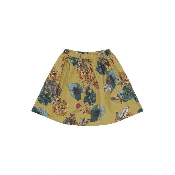 ROHDE - Nederdel i karry-blomstret