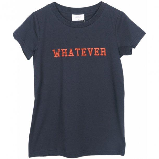 GRUNT - T-Shirt i blå med rød skrift. Siri..