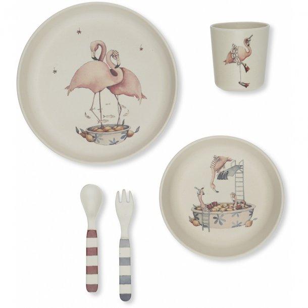 KONGES SLØJD - Flamingo dinner set