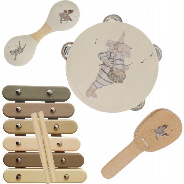 KONGES SLØJD - Kuffert med musikinstrumenter