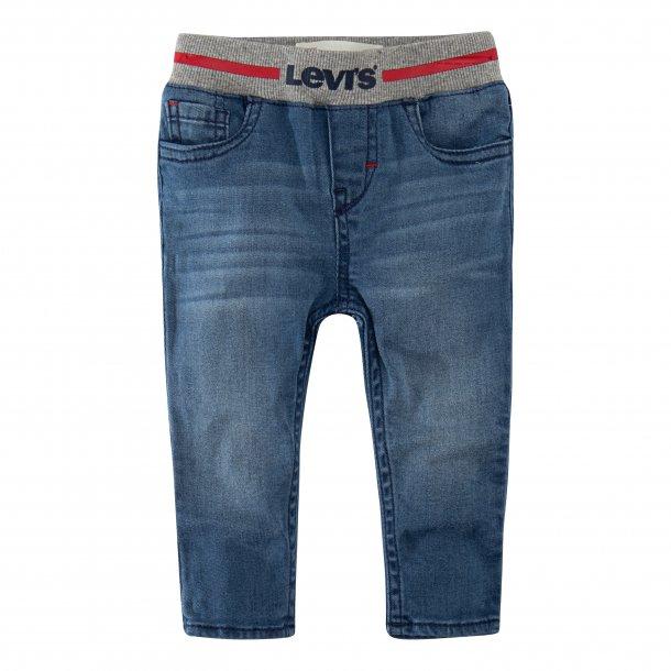 LEVIS - Baby jeans med elastik i blå vask