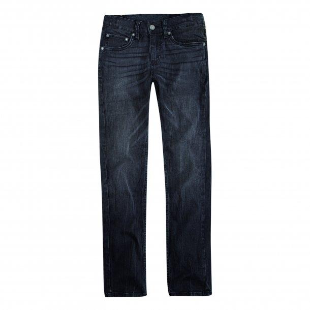 LEVIS - Jeans i sort vask . Model 512. Trash Dreng