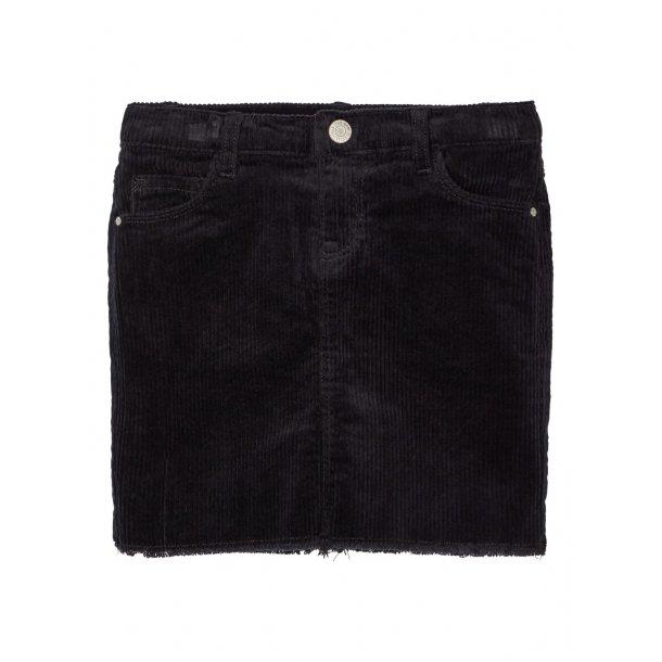 LIMITED- Fløjls nederdel i sort
