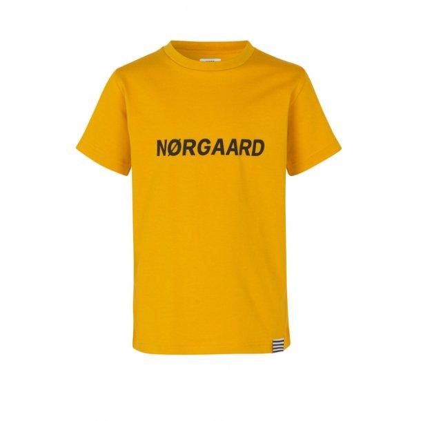 MADS NØRGAARD - T-Shirt i golden yellow. Thorlino-