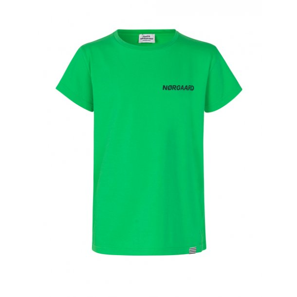 MADS NØRGAARD - T-Shirt i high green.. Tuvina ptint-