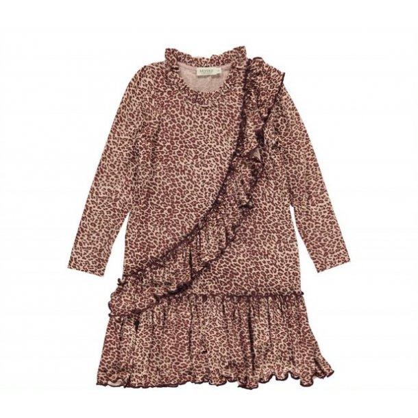 MAR MAR - Kjole wine leopard. Leo Dayla