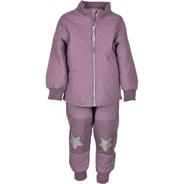MIKKLINE - Duvet termosæt i Rose Taupe med fleece i jakken