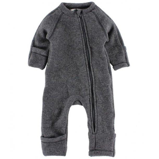 MIKKLINE - Uld fleece dragt i melange grå