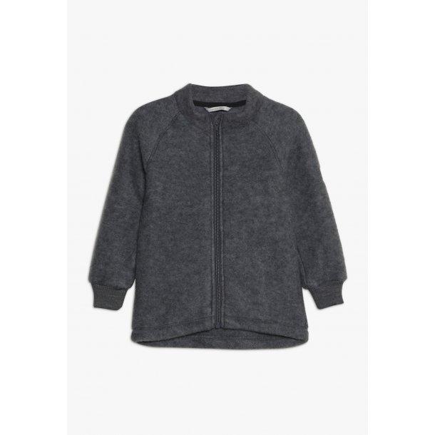 MIKKLINE - Uldfleece trøje i gråmelange