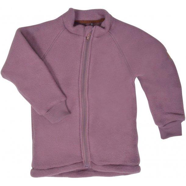 MIKKLINE - Uld fleece trøje i Rose Taupe
