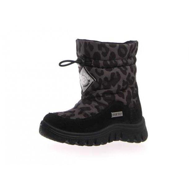 NATURINO - Stik i støvle i leopard med uldfoer og TEX