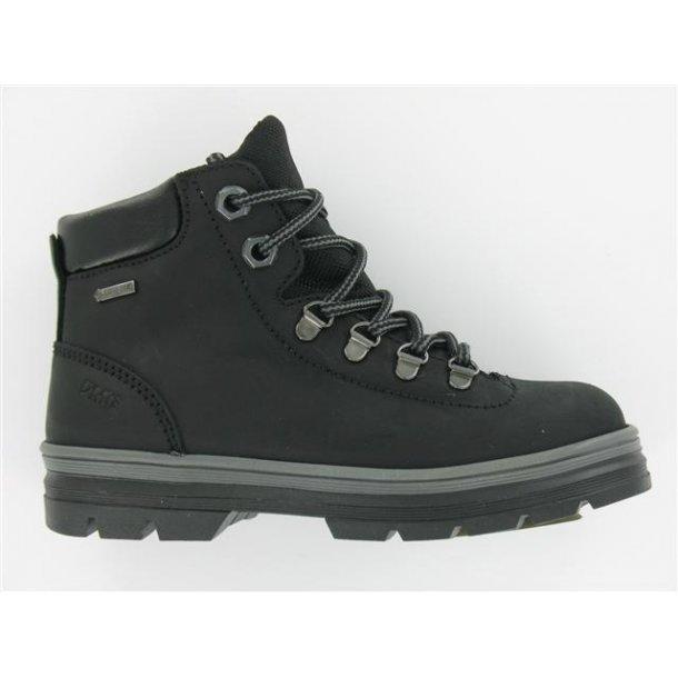 PRIMIGI - TEX Støvle med snøre og lynlås i siden  sort