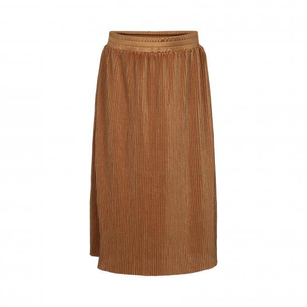 SOFIE SCHNOOR - Nederdel i karrygul plisse..