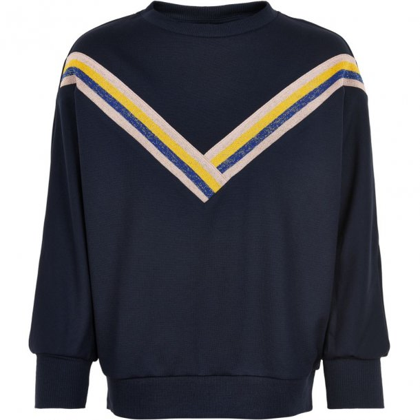 THE NEW - Sweatshirt i blå med piping . Mallory