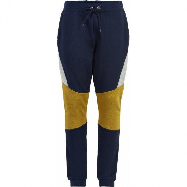 THE NEW - Joggingbukser i blå med karry . Macel