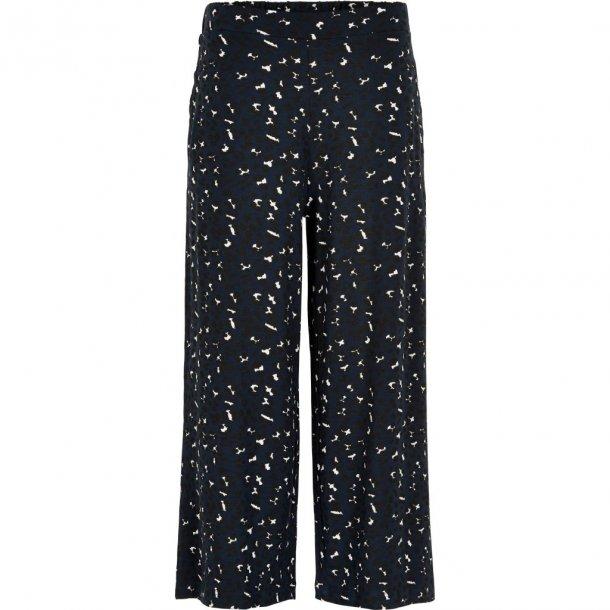THE NEW - Vide bukser i blå-sort leopard. Mary