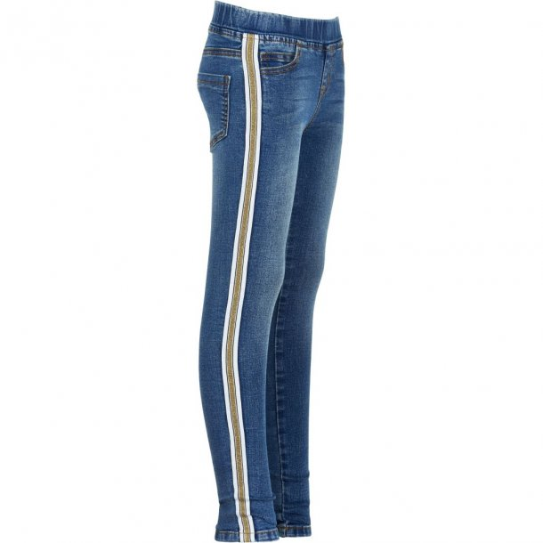 THE NEW - Jeans med stribe i guld. Maze